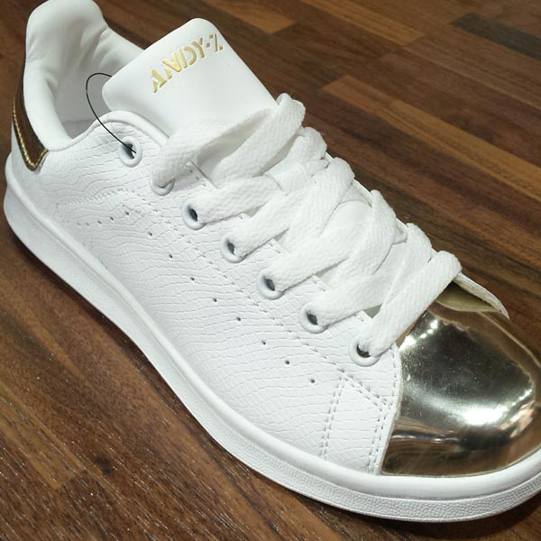 Zapatillas doradas mujer